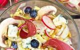 Salade d'endives, magret séché et vinaigrette mandarine