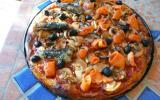 Pizza à la farine d'épeautre sardines et truite fumée