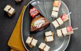 """Toasts de pain d""""épices et brochettes de Brie aux 5 baies Cœur de Lion"""