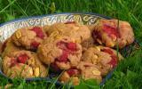 Cookies au beurre de cacahuète et aux framboises