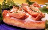 Pizza poêlée saumon et mozzarella
