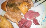 Magret de canard en croute de sel au romarin