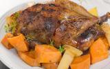 Faisan farci aux coings et au foie gras