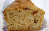 Cake fondant pommes, cannelle et rhum-raisins