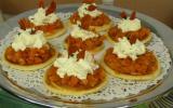 Fraîcheur de blinis tomaté au St Moret