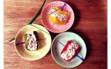 Demi roulés de poivrons au thon