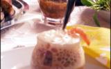 Salade maritime acidulée, espuma de pomelos en verrine