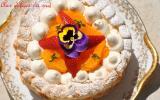 Pavlova à l'orange et fraises de Christophe Michalak