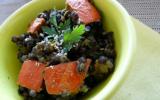 Lentilles au potimarron et sauce coco curry