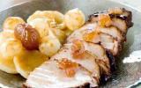 Roti de porc fermier aux marrons glacés et 5 parfums