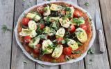 Pizza sans gluten à la patate douce