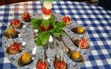 Tomates cerises et grains de raisin blanc au  sésame
