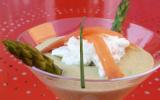 """Velouté d""""asperges vertes & Chantilly au saumon fumé"""