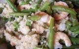 Taboulé de crevettes et haricots verts
