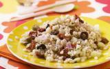 Salade de blé aux deux olives