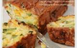 Cake au poulet, à la courgette et à la mimolette