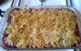Crumble pomme-framboise facile