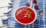 Soupe de fraises menthe gingembre