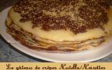 Gâteau de crêpes au nutella et noisettes