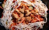 Wok de dinde au curry et nouille chinoise