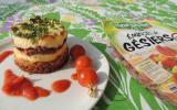 Cheesecake aux gésiers compotée de tomates cerises