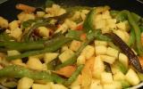 Poivrons et pommes de terre d'été