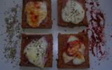 Toasts de pain d'épices au Jambon de Bayonne et fromage de Brebis
