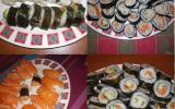 Sushi au saumon et concombre