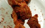 Petites brochettes d'agneau sauce satay