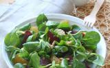 Salade de mâche, clémentines et magret séché