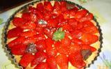 Tarte aux fraises et crème pâtissière au rhum