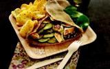 Galettes de sarrasin au poulet et légumes