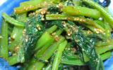 Namuru de Komatsuna ou d'épinards  - recette coréenne
