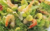 Salade aux avocats et crevettes