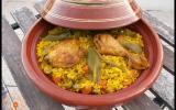 Poulet et son riz safrané