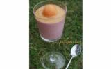 Coupe framboise - crème de calissons