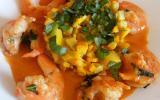 Chaud froid de courgettes et crevettes