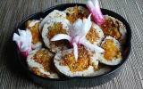 Roulé de dinde au curry carotte et courgette jaune