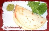 Tortilla en sandwich poulet-curry
