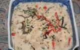 Soupe Thaï aux crevettes ou au poulet, au lait de coco