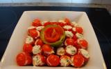 Tomates cerises farcies à la ciboulette et à l'échalote