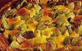 Clafoutis à la rhubarbe sur pâte à tarte maison