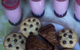 Brownies, cookies et milkshake