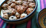 Cookies salés : chorizo et olives