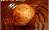 Muffins miel - cannelle - fleur d'oranger