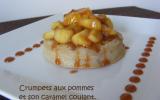 Crumpets aux pommes et caramel