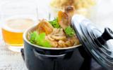 Poulet cocotte au cidre et aux oignons