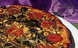 Tarte tatin d'aubergines au basilic et romarin