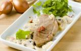 Steak d'agneau à la crème de champignons