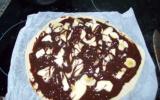 Pizza chocolat bananes